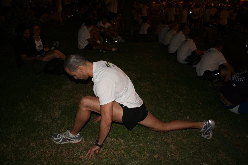 מאמן כושר - תרגיל מתיחה לירך הקדמית לפני ריצה