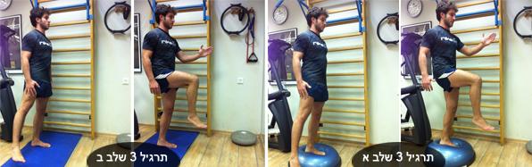 מאמן כושר אישי - תרגיל עמידה על רגל אחת על בוסו