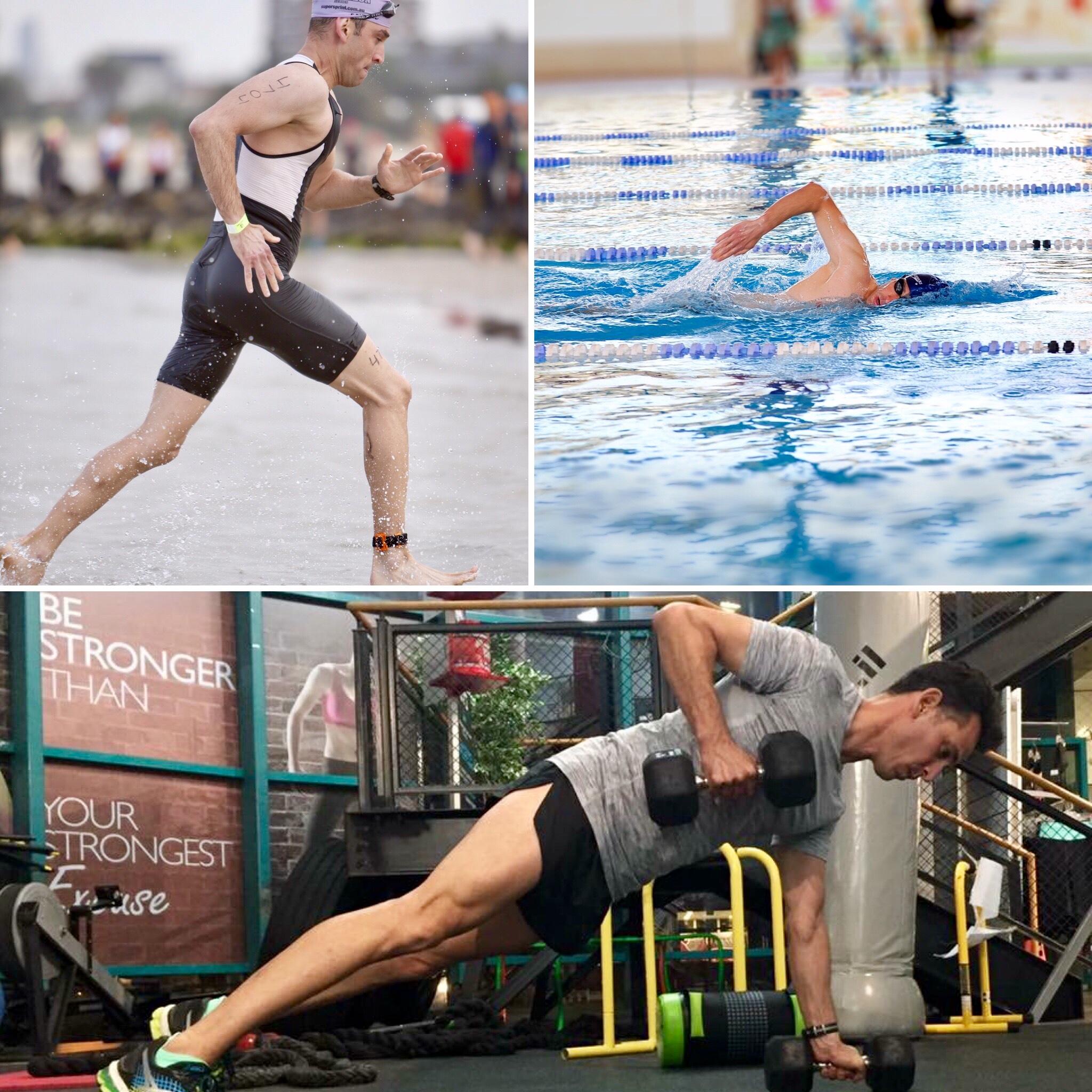 אימון כושר אישי, שחייה וטריאתלון